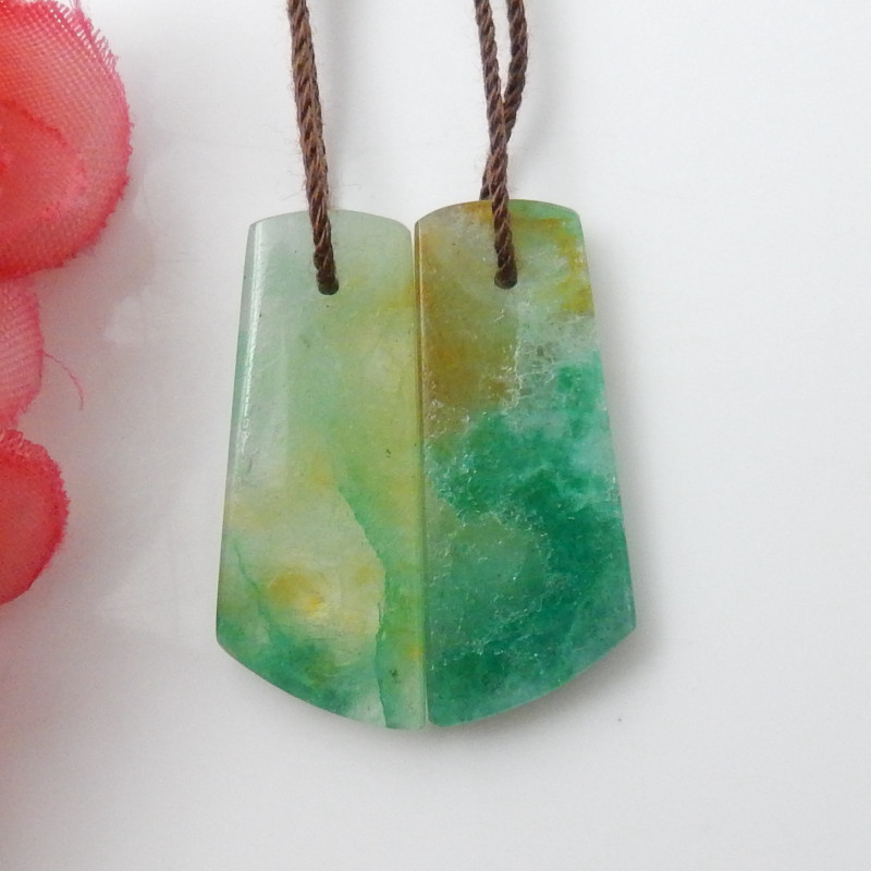 20cts Chrysocolla Earrings Square earrings beads, stone for earrings making