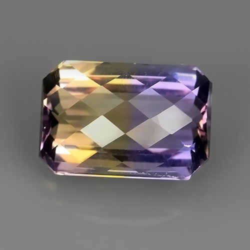 4.85 CTS-EXQUISITE NATURAL UNHEATED CHECKER BROAD BI COLOR AMETRINE