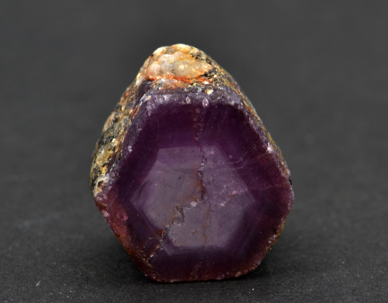 Natural Ruby Crystal with Amazing Zoning 13.52 Cts from Guinea