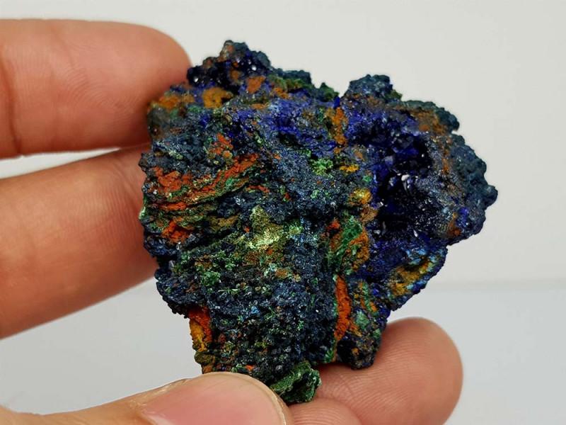 275Crt Natural Royal Blue Azurite & Green Malachite Mineral Specimen JI78