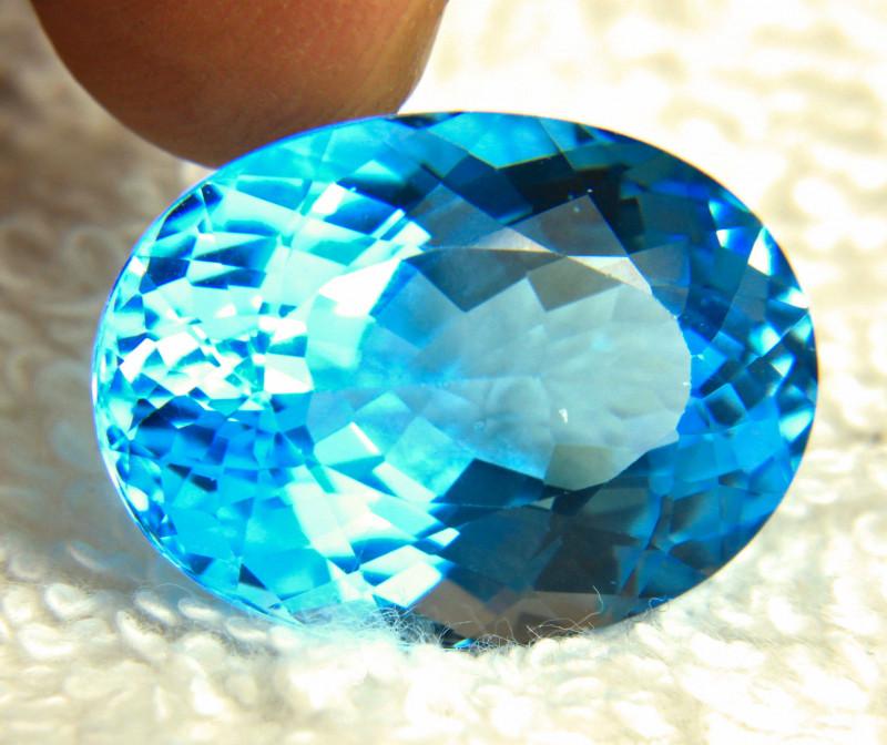 37.68 Carat Blue Brazilian VVS Topaz - Gorgeous