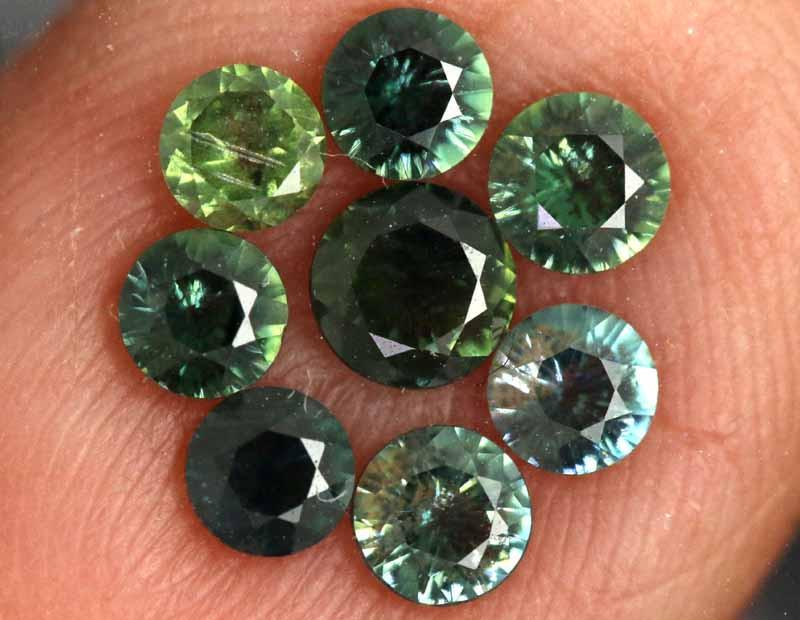 1.15-CTS Australian Sapphire Faceted Parcel( 8 pcs)  PG-3273