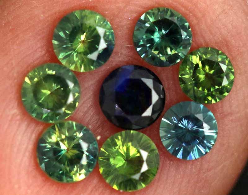 1.22-CTS Australian Sapphire Faceted Parcel( 8 pcs)  PG-3275