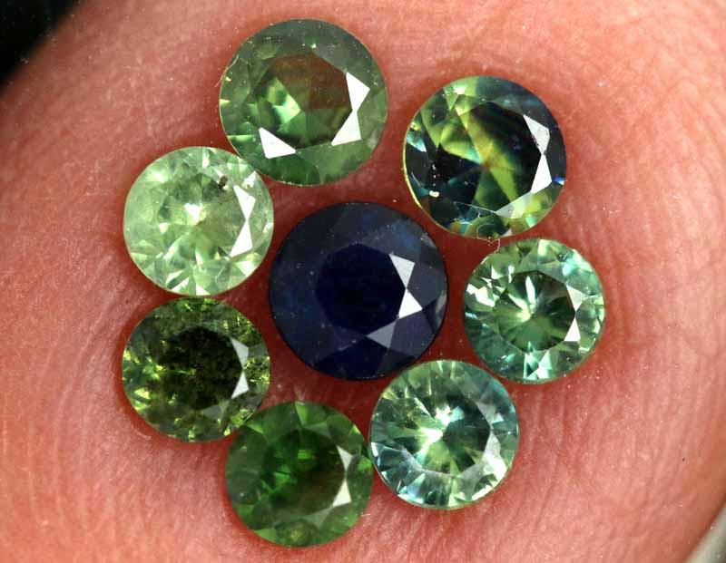 1.08-CTS Australian Sapphire Faceted Parcel( 8 pcs)  PG-3281