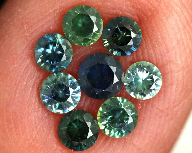 1.05-CTS Australian Sapphire Faceted Parcel( 8 pcs)  PG-3282
