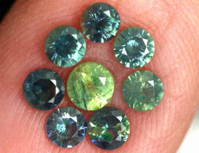 1.12-CTS Australian Sapphire Faceted Parcel( 8 pcs)  PG-3286