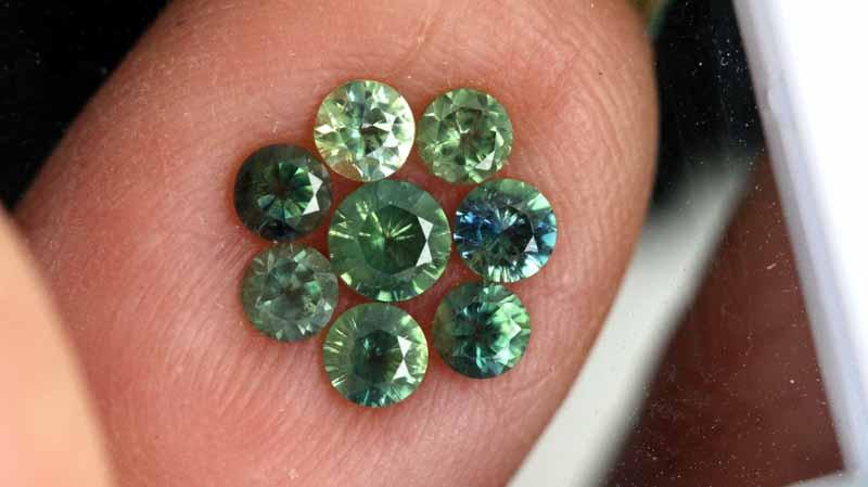 1.03-CTS Australian Sapphire Faceted Parcel( 8 pcs)  PG-3287
