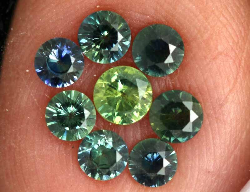 1.20-CTS Australian Sapphire Faceted Parcel( 8 pcs)  PG-3290