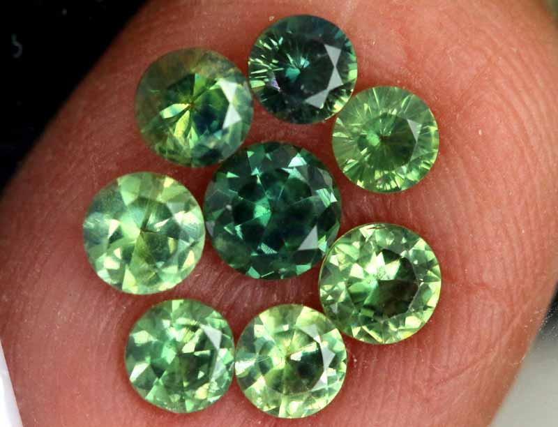 1.78-CTS Australian Sapphire Faceted Parcel( 8 pcs)  PG-3291