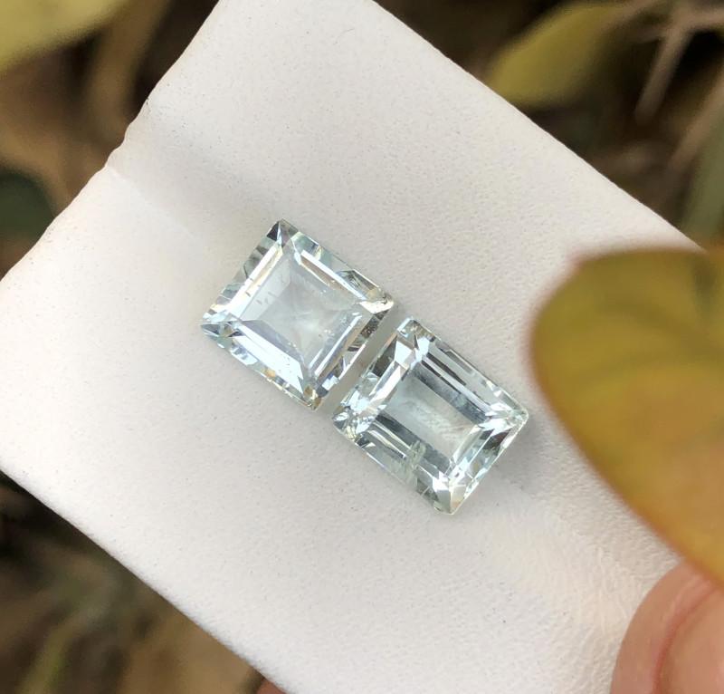 4.50 Ct Natural Transparent Aquamarine Gemstones Pairs