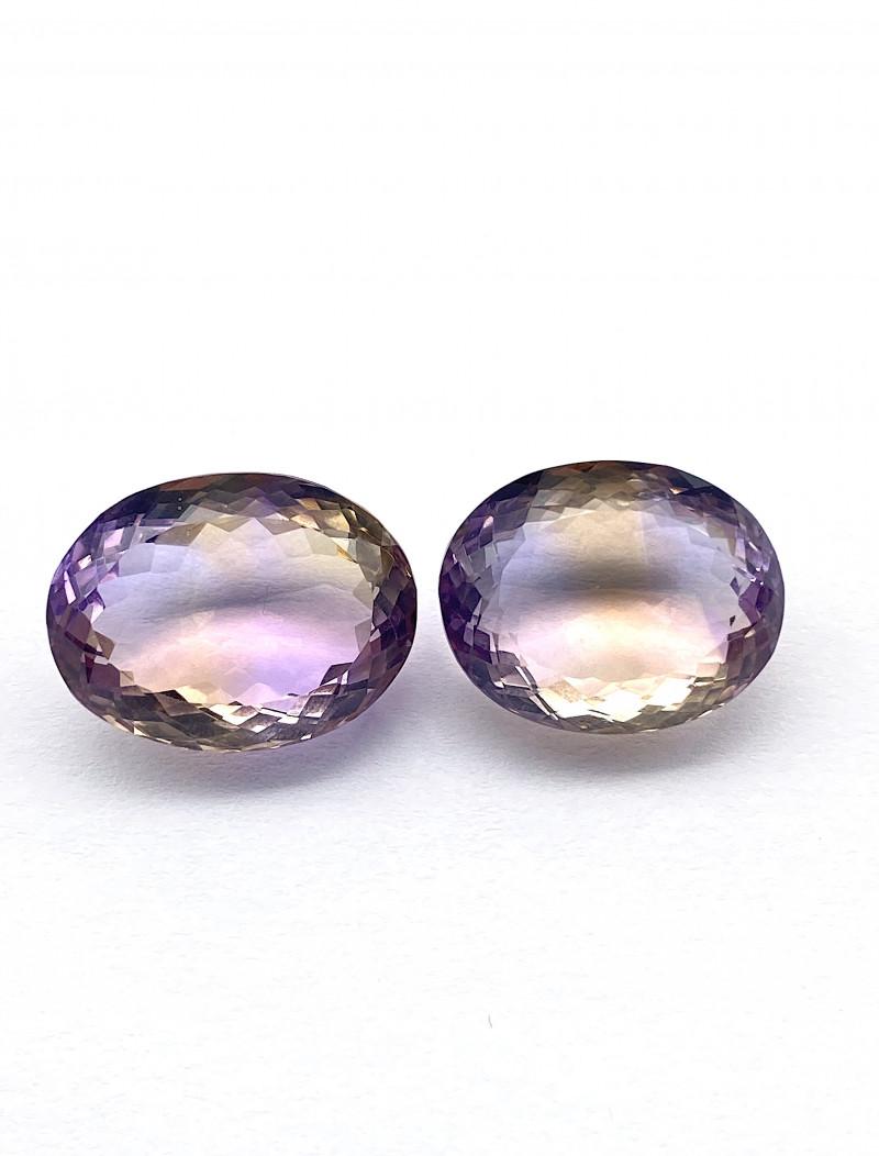 30.71 ct Ametrine Lot of 2 gemstones
