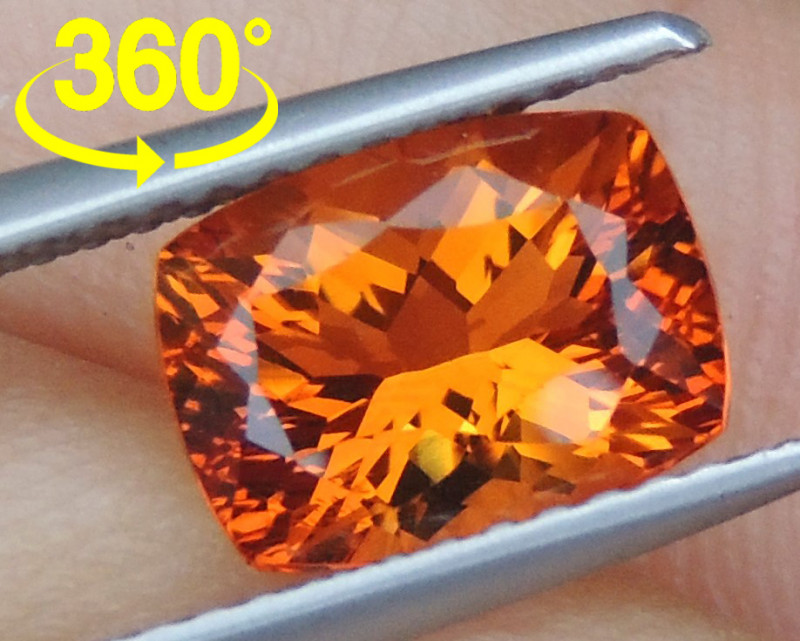 1.94cts Precision Cut -Crayola Orange- Citrine