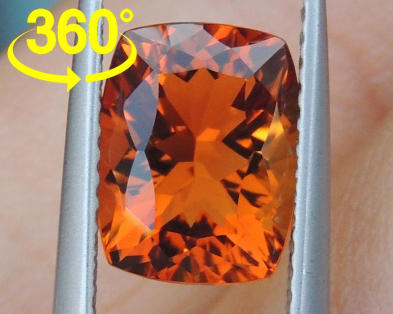 2.25cts Precision Cut -Crayola Orange- Citrine