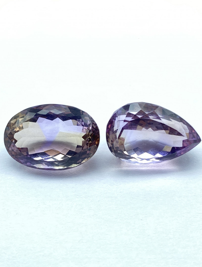 43.58 ct Ametrine Lot of 2 gemstones