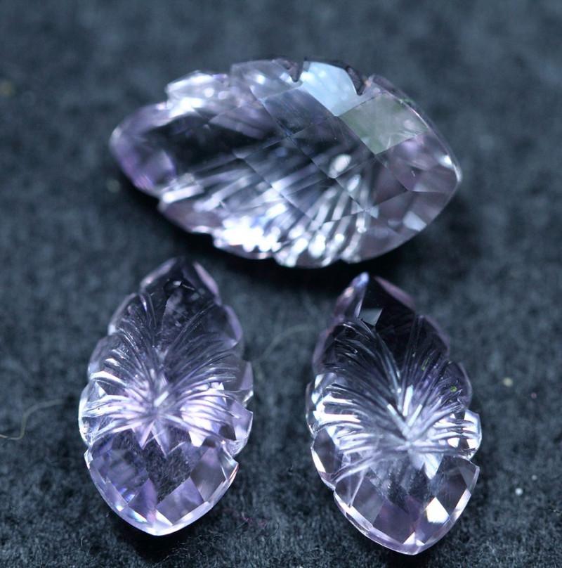 16.00cts Africa Amethyst  Cutting Gemstone