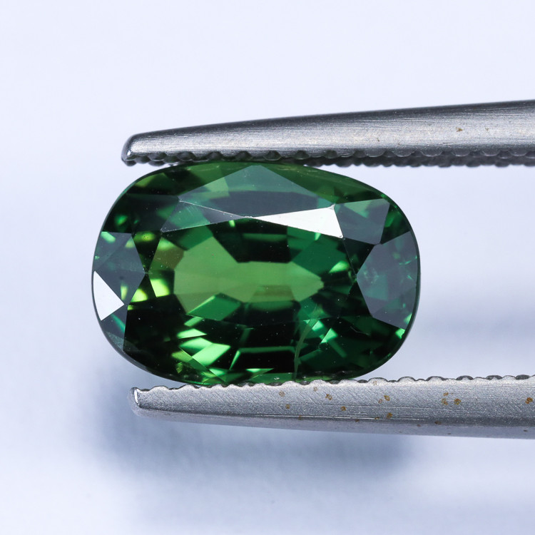 3.05ct Lab Certified Green Sapphire