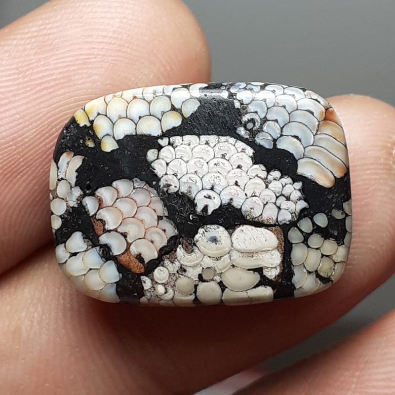 18.40 CT SNAKESKIN AGATE FROM INDONESIA
