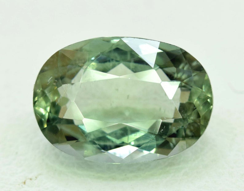 4.20 Carats Oval Cut Natural Top Grade Color Greenish Aquamarine Beryl Gems