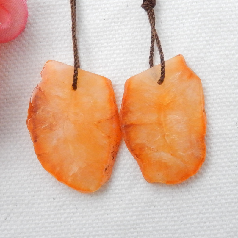 37.5cts Nugget Agate Earrings gemstone earrings beads, stone for earrings F