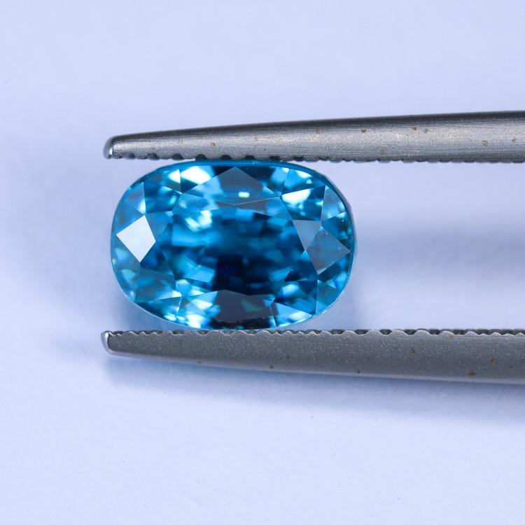 4.15ct Lab Certified Blue Zircon