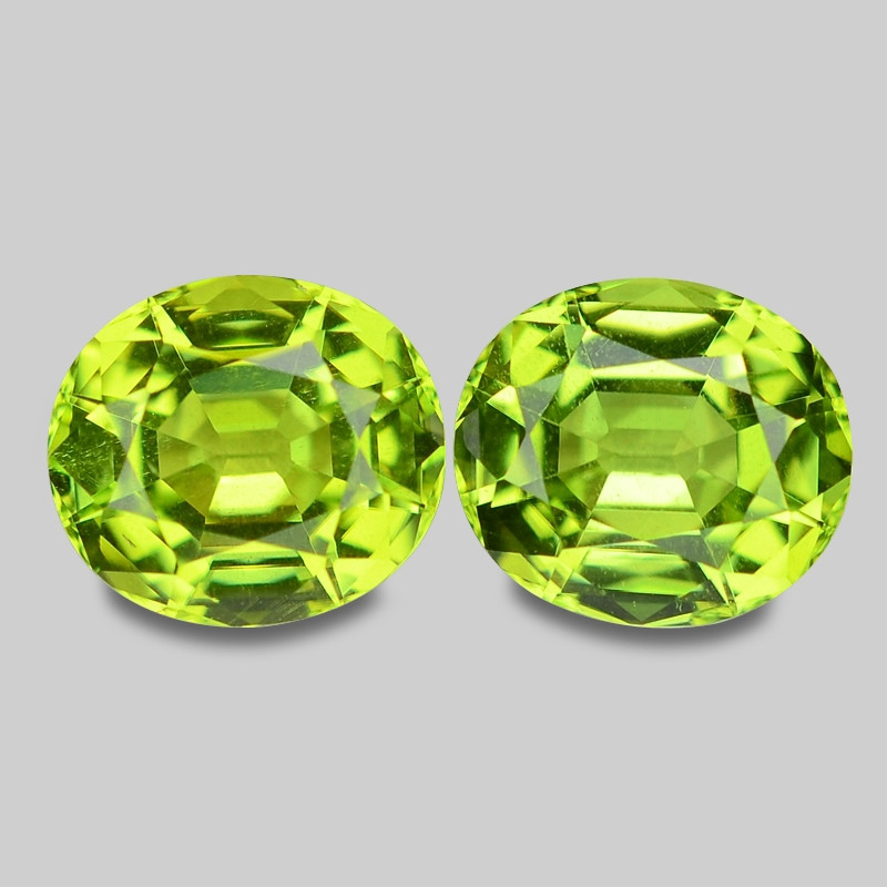 3.24 Cts 2pcs Amazing Rare Fancy Green Natural Peridot Gemstone