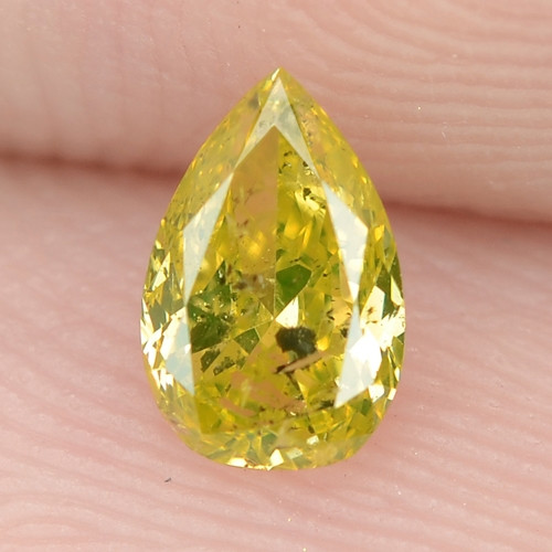 0.31 Cts Untreated Fancy  Parrot Green  Color Natural Loose Diamond
