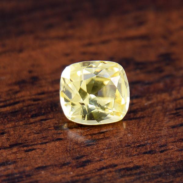 Natural Yellow Sapphire, Ceylon /Untreated .87 Ct  (01676)