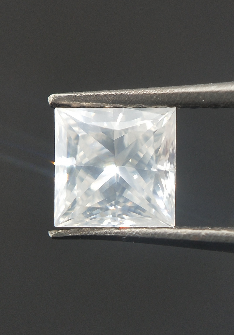Milky White Diamond , Princess Cut , Loose Setting stone , 0.53 cts