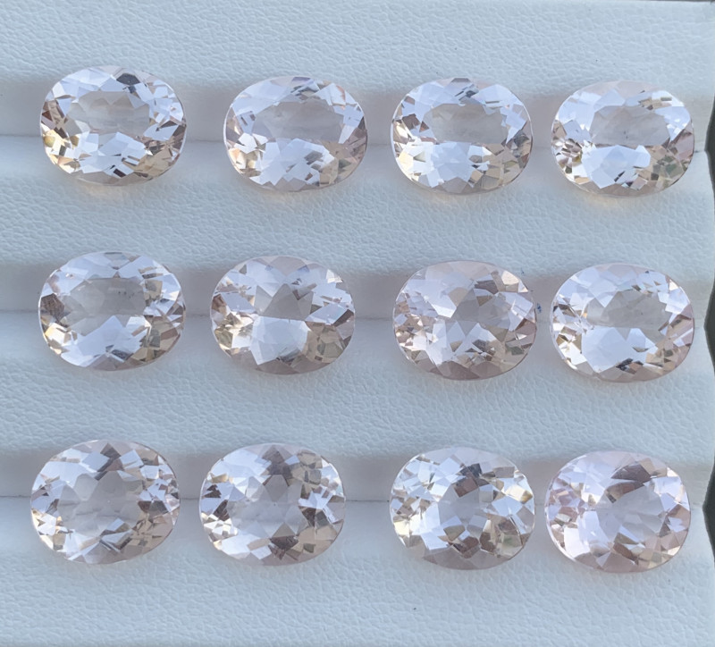 50.54 Carats Morganite Gemstones parcels