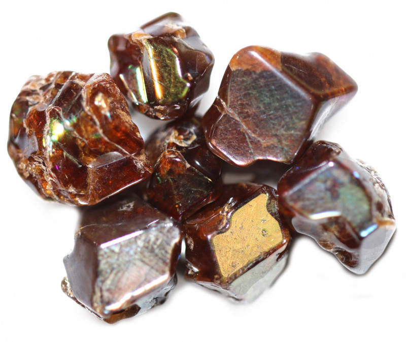 47.06 CTS RARE RAINBOW GARNET TUMBLED PARCEL FROM JAPAN [MGW5444]