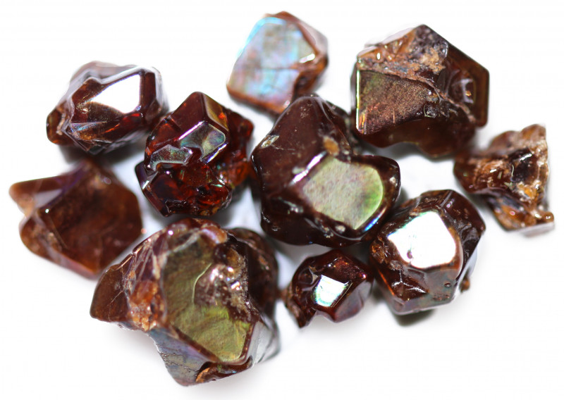 45.68 CTS RARE RAINBOW GARNET TUMBLED PARCEL FROM JAPAN [MGW5447]