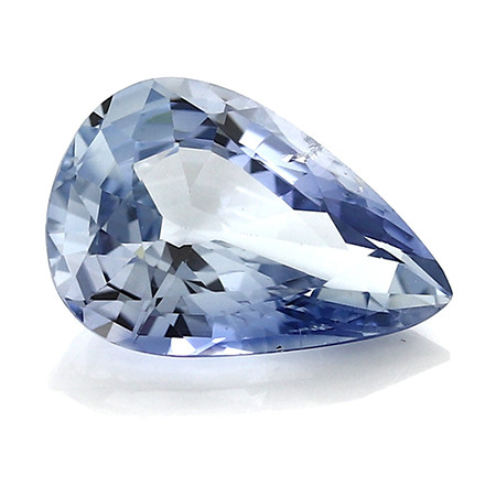 2.13 ct Pear Shape Blue Sapphire: Light Blue