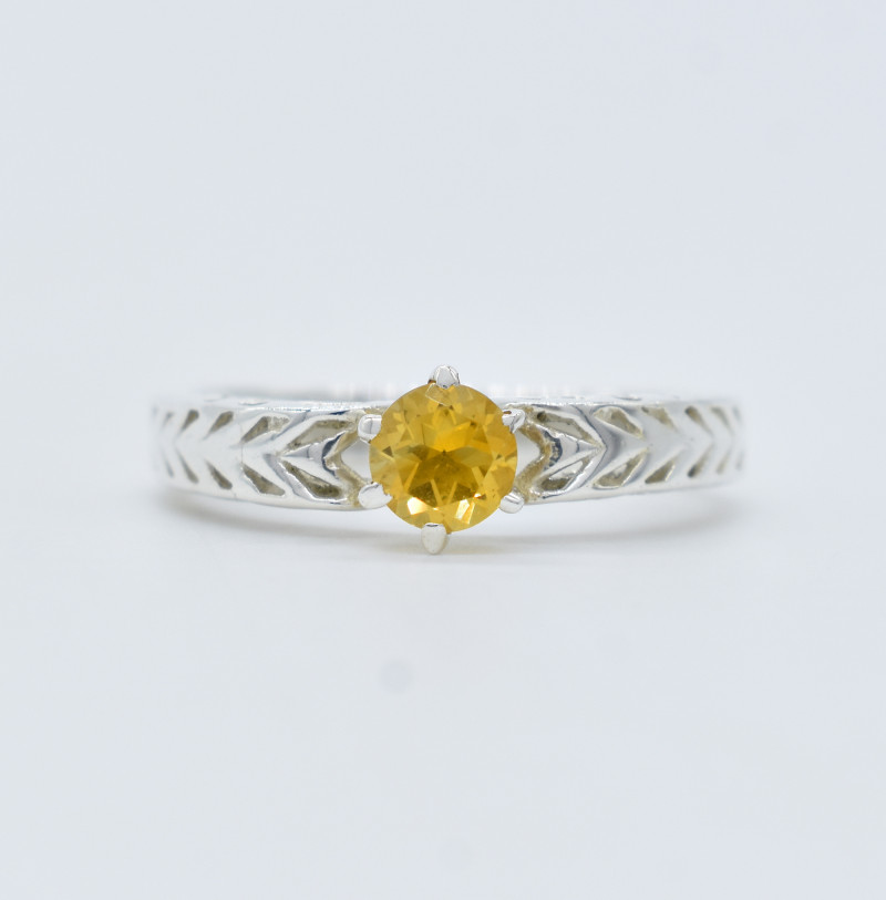 CITRINE RING 925 STERLING SILVER NATURAL GEMSTONE FREE SHIPPING JR360