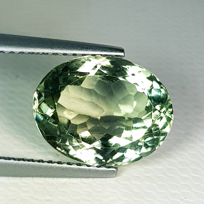 5.90 ct Top Quality Awesome Oval Cut Natural Green Amethyst