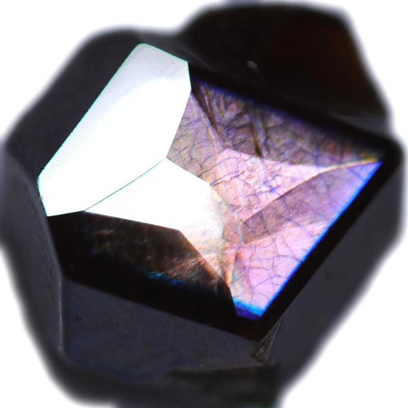 4.77 CTS RAINBOW GARNET JAPAN-FACETED-CERTIFIED [S-SAFE459]