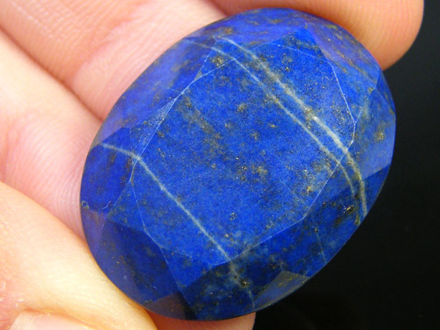 LAPIS LAZULI  OVAL FACETED STONE 29.95  CARATS  AG 1514