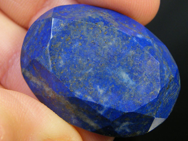 LAPIS LAZULI  OVAL FACETED STONE  35 CARATS  AG 1517