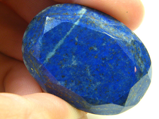 LAPIS LAZULI  OVAL FACETED STONE 55.40  CARATS  AG 1536