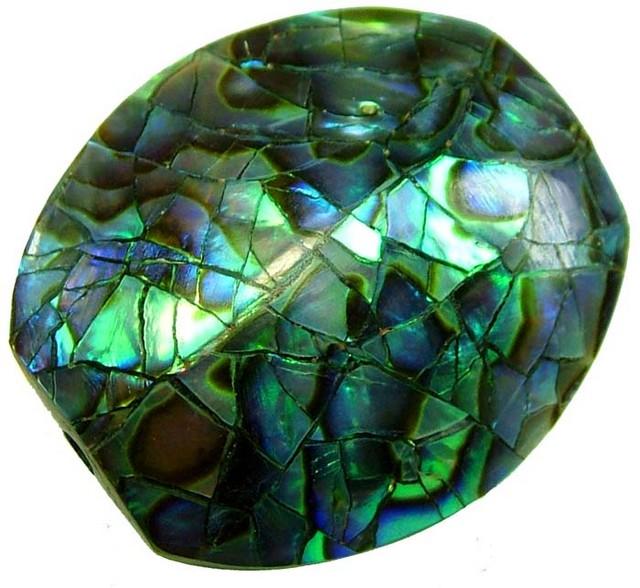 PAUA SHELL BEAD-VIBRANT 19.70 CTS [ST762 ]