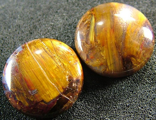 PIETERSITE CAB PAIR FROM CHINA  12.8 CTS  [ST3771 ]