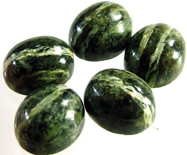 GREEN  ZEBRA JASPER PARCEL-POLISHED 22.9 CTS [MX4000 ]