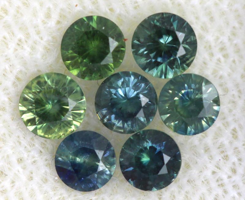 1.02 -CTS Australian Sapphire Faceted Parcel( 7pcs)  PG-3293