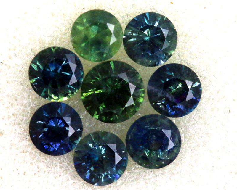 1.09 CTS Australian Sapphire Faceted Parcel( 8 pcs)  PG-3294