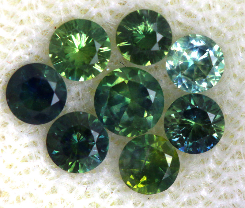 1.01 -CTS Australian Sapphire Faceted Parcel( 6 pcs)  PG-3295