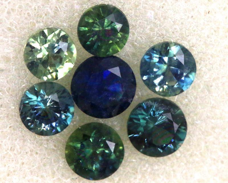 1.04 -CTS Australian Sapphire Faceted Parcel( 7 pcs)  PG-3296