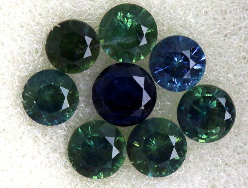 1.18 CTS Australian Sapphire Faceted Parcel( 9 pcs)  PG-3299