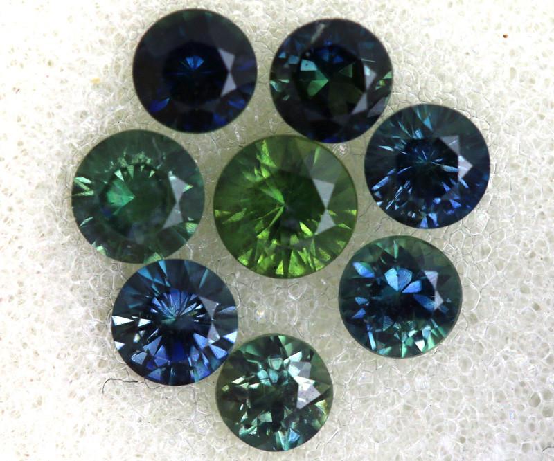 1.2 CTS Australian Sapphire Faceted Parcel( 8 pcs)  PG-3302