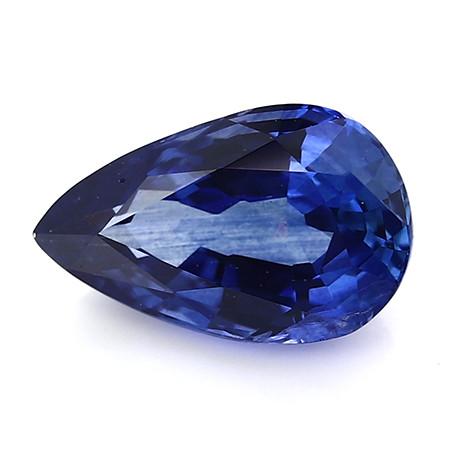 1.38 ct Pear Shape Blue Sapphire: Rich Royal Blue