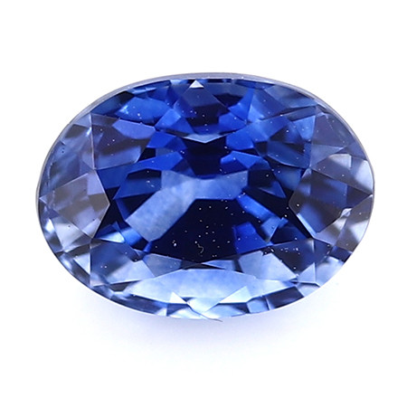 0.89 ct Oval Blue Sapphire: Rich Royal Blue