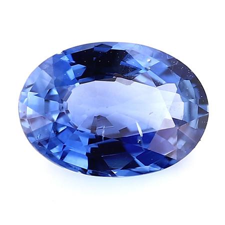 0.79 ct Oval Blue Sapphire: Rich Blue